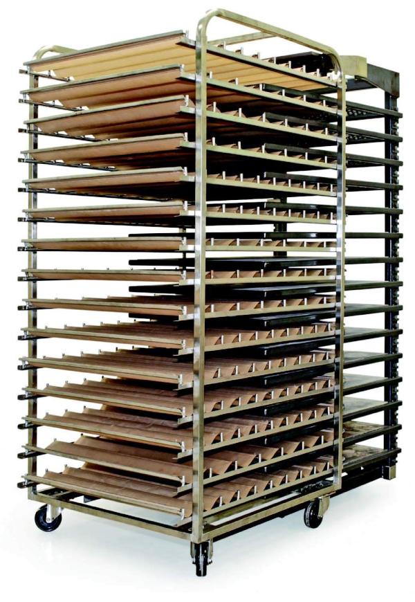 Ugnskåpa med aluminiumhällar för Bageri och konditori   Panea