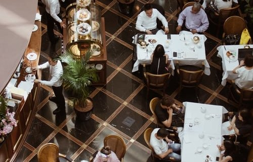 Restaurang ovanifrån   Panea