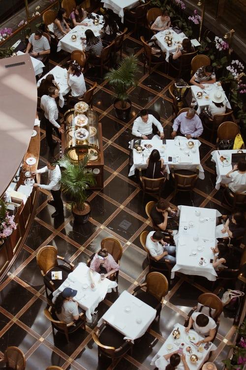 Restaurang ovanifrån | Panea